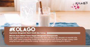 Minum Susu Belum Tentu Dapat Mengatasi Osteoporosis
